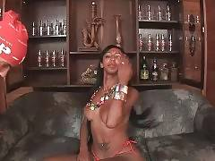 Hot Busty T-Ebony Skillfully Works Her Mouth 1