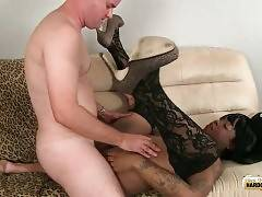Craving Chocolate She-Male Enjoys Deep Fucking 2