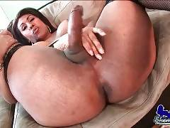 Curvaceous TS Nikki Plays Hot Solo 4